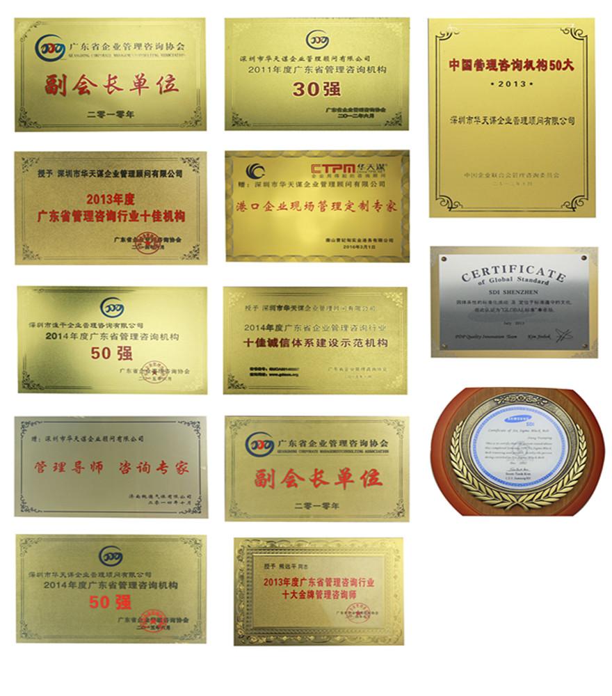 华天谋企业荣誉